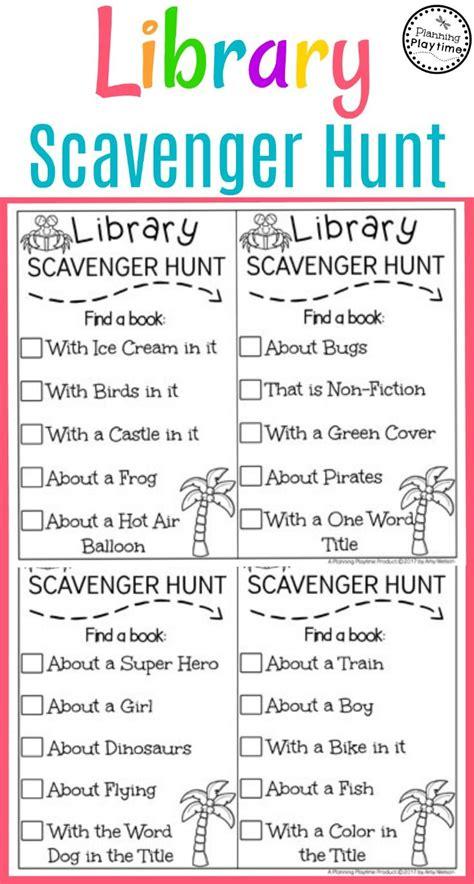 scavenger hunt best 25 library scavenger hunts ideas on book