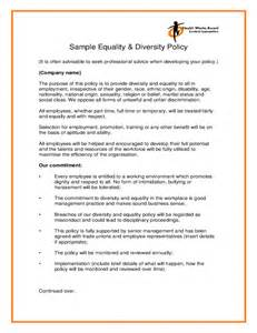 Diversity Policy Template equality policy template sle equality diversity policy