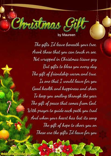 the best christmas gift poem poems for celebration all about