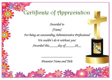 pastor appreciation certificate template thoughtful pastor