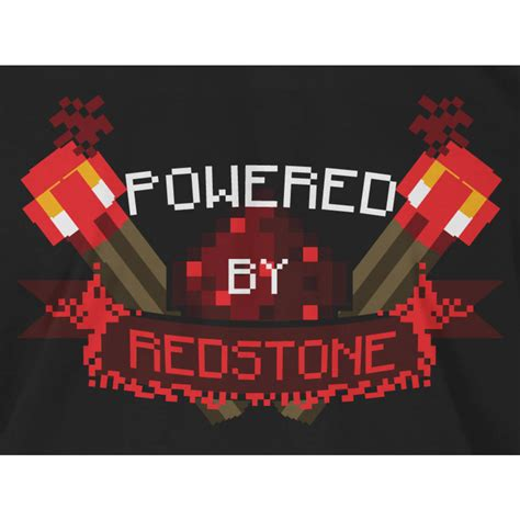 Redstone Gift Card - minecraft t shirt powered by redstone getdigital