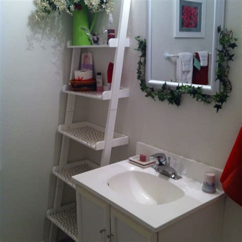 Ladder Shelf In Bathroom Ladder Shelf In Bathroom Beautiful Or Things To Live