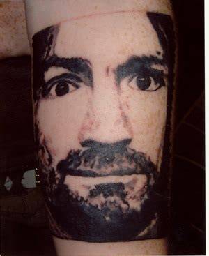 charles manson tattoo fyeahtattoos this is my charles i got
