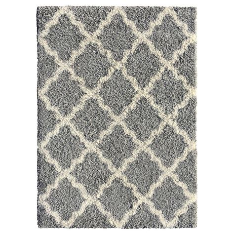 Area Rugs 5x7 by Moroccan Trellis Gray 5 Ft X 7 Ft Indoor Area Rug 2894