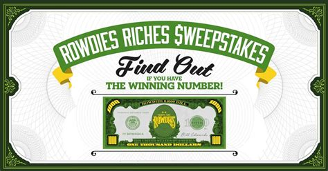 Rowdies Riches Sweepstakes - you may already be 3 000 richer rowdies riches weepstakes is back