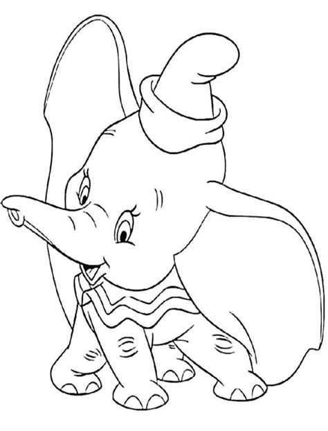 Disney Dumbo Free Colouring Pages Dumbo Pictures To Color