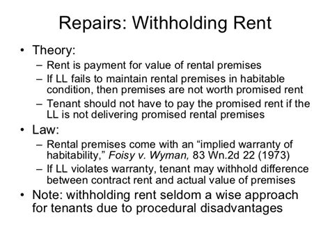 Withhold Rent From Landlord Letter rental housing overview