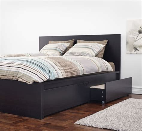 under bed drawers ikea malm underbed storage box for high bed black brown