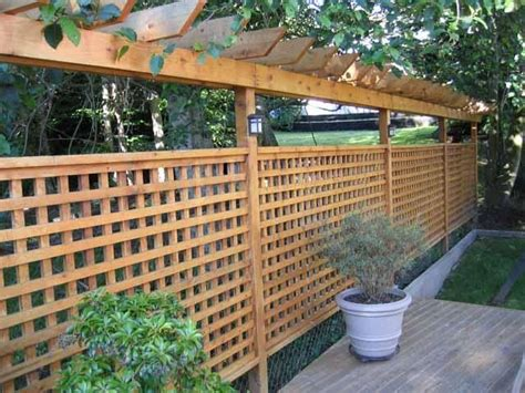 Lattice Fence With Pergola Fences And Pergolae Fence Pergola Designs