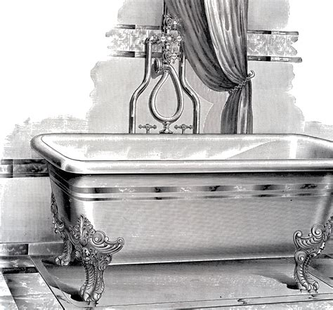vintage bathtub antique bathtub picture free printable the graphics fairy