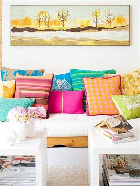 decorate your living room using colorful throw pillows 50 energetic and colorful living room design ideas