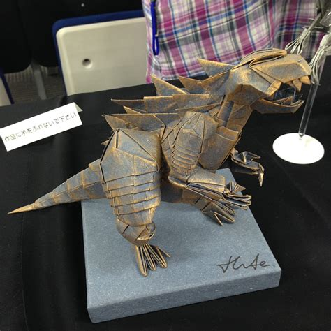 How To Make An Origami Godzilla - this week in origami 21st origami tanteidan convention