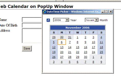 Asp Calendar Using The Asp Net Calendar And Yahoo Ui Calendar