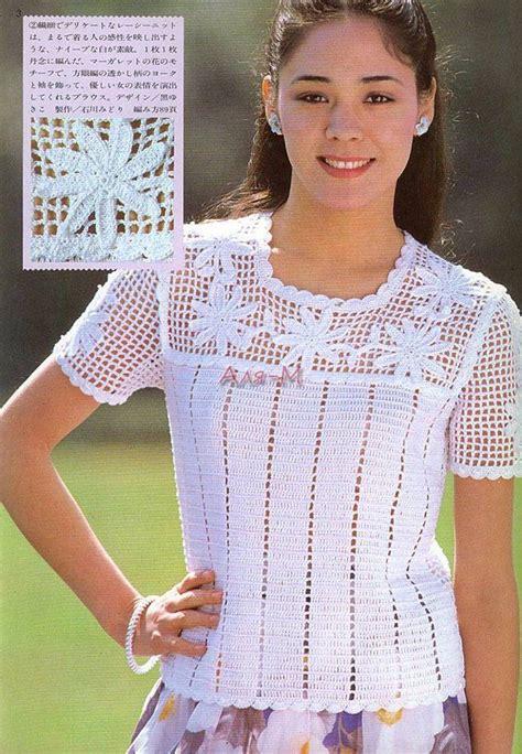 pinterest filet crochet blouses todo para crear blusas y remeras en crochet blusas
