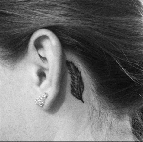 tattoo behind ear dangerous behind the ear feather tattoo simple tattoos