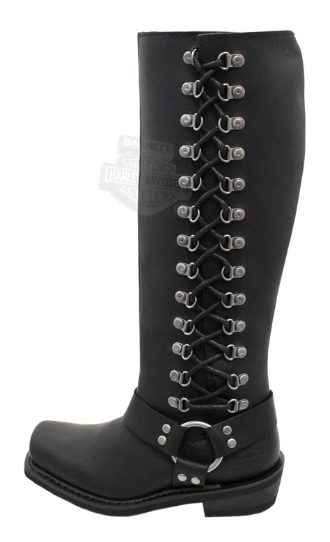 womans harley boots 87020 harley davidson 174 womens romy black leather high