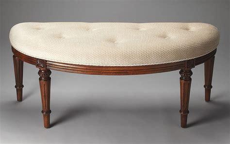 demilune bench tamara masterpiece olive ash burl demilune bench from