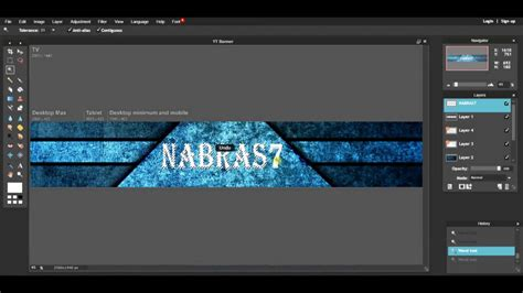 tutorial banner online how to make a youtube banner in pixlr online pixlr