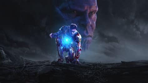 iron man thanos avengers infinity war hd