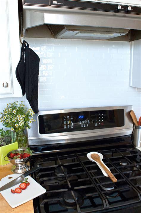 peel and stick kitchen backsplash use peel and stick tiles as a backsplash genius rental