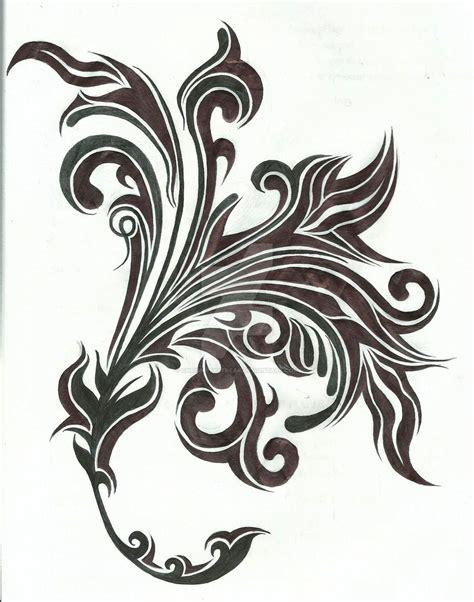 tribal vine tattoo tribal flower and vine design by chrismetalfreak on
