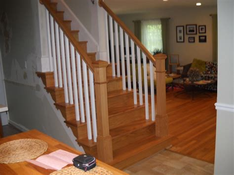 replacing banisters replace wood railings ashburn precision interior rails