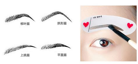 Eyebrow Guide Eye Brow Guide Brow Clas Kode Df3308 7 korea eyebrow stencils auxiliary word artifact thrush