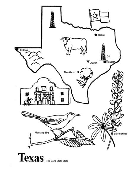 texas state outline coloring page cm  pal ideas