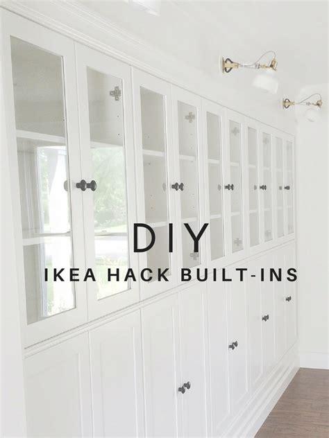 diy ikea built in bookcase avery design diy summer ikea hack