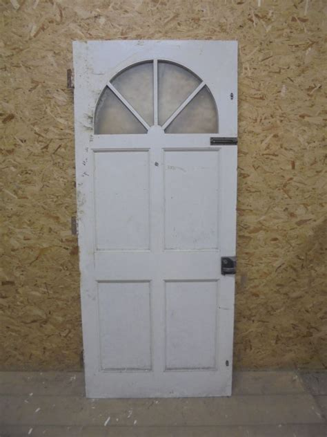 Half Glazed Exterior Doors Half Painted Green Partially Glazed Front Door Authentic Reclamation