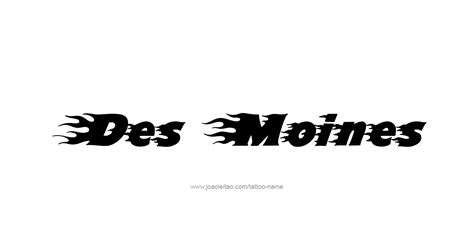 tattoo des moines des moines usa capital city name designs page 4