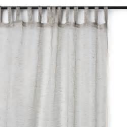 Gray Linen Curtains Varanasi Netted Linen Curtain Gray