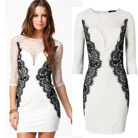 White Lace M L Xl Dress 31834 aliexpress buy autumn dress 2014 new vestidos de