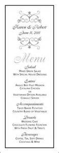 free wedding menu templates printable wedding menu template wedding menu template 8
