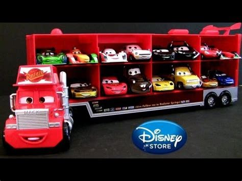 8 cars talking mack truck hauler cars 2 world grand prix 4