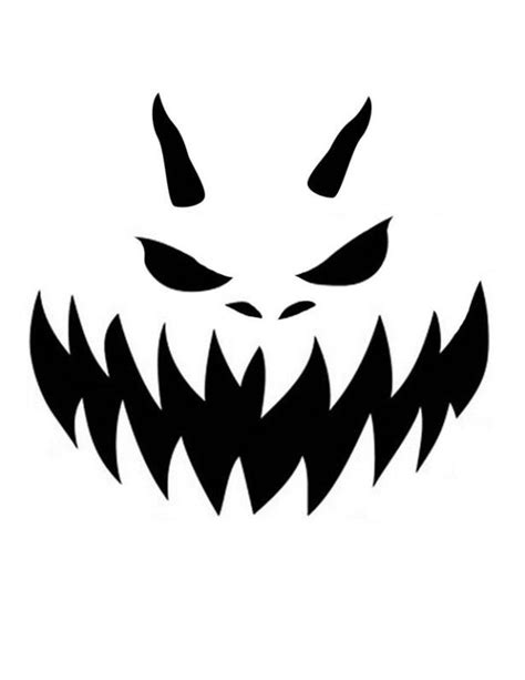 awesome  nice printable pumpkin carving stencil scary