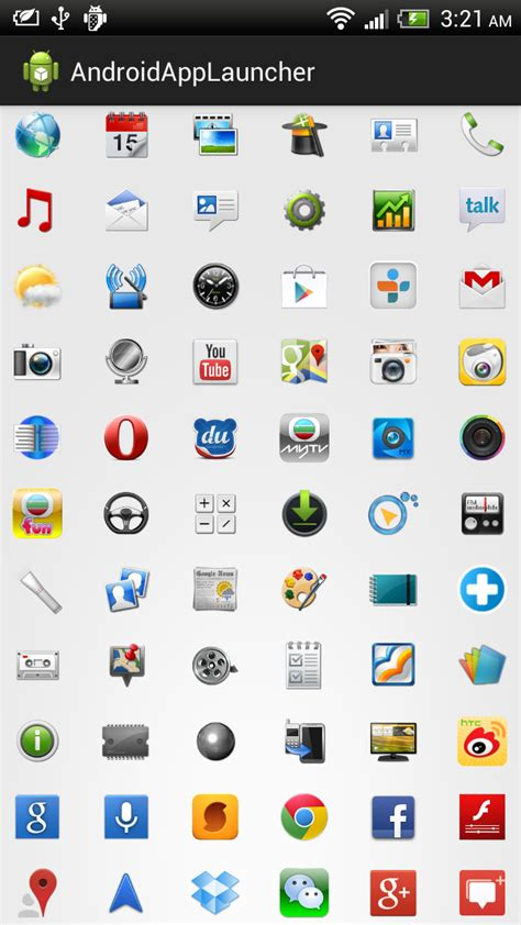android app icons android er implement own app launcher