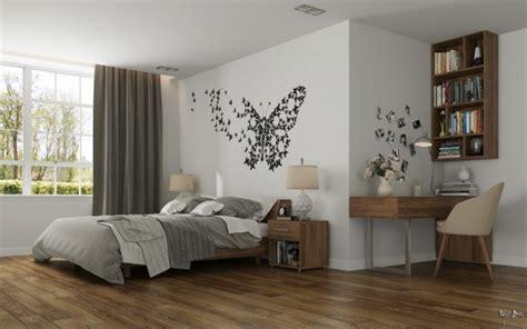Beau Meuble Tete De Lit Rangement #8: Décoration-murale-originale-chambre-avec-beau-parquet.jpeg