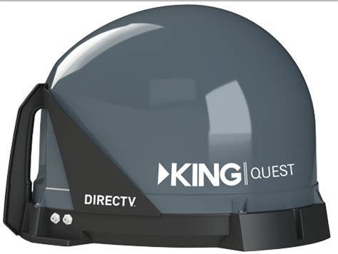 king dish tailgater  quest satellite tv system  semi truck