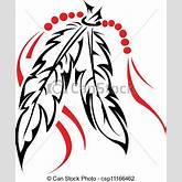 feathers. - A pair of tribal feather. csp11166462 - Search Clipart ...