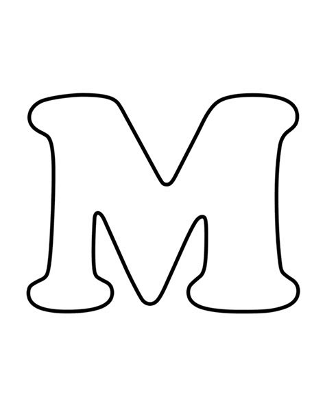 printable letters with color letter m free printable coloring pages