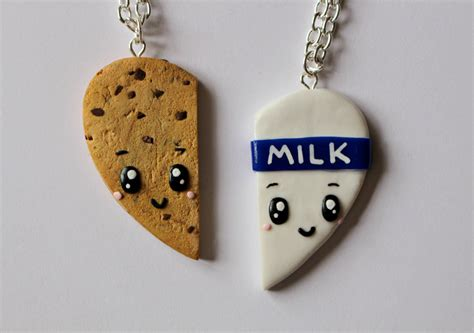 Kalung Choker Crown 6902 cookies and milk friendship necklaces or magnets