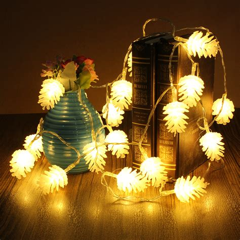 2 2m 20 led pine cone string light l christmas wedding