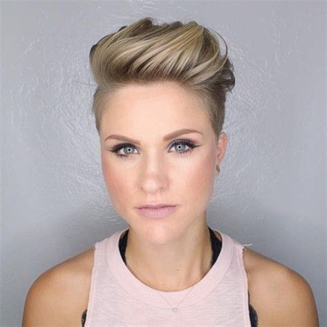 feminine mohawks undercut women undercuts and mohawks pinterest