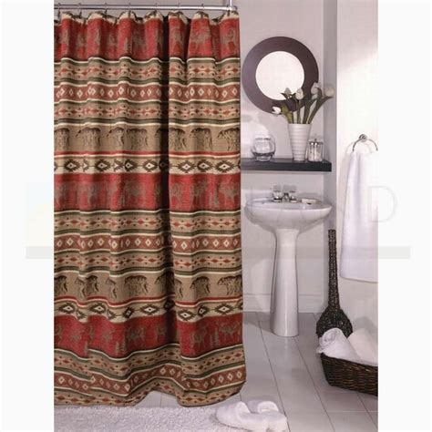 sunland home decor sunland home decor jb 1104 adirondack lodge shower curtain bath decor pinterest