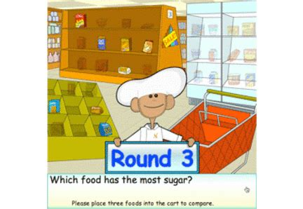 chef solus and explorers go grocery shopping in solusville ride the food label game apps for healthy kids