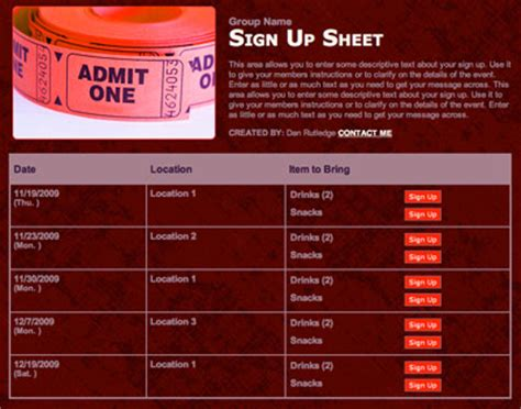 up film institute schedule performance carnival tickets sale volunteer sign up form