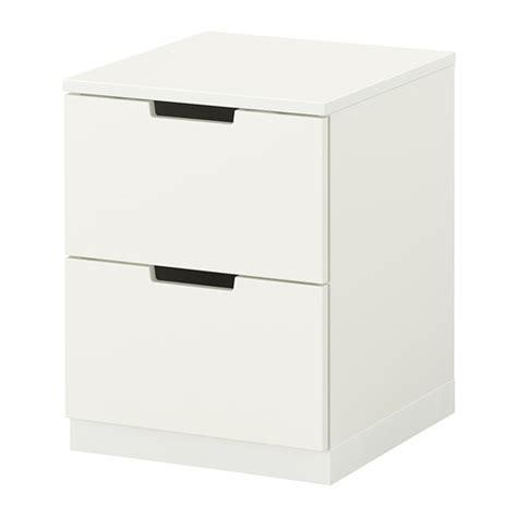nordli 2 drawer chest white ikea