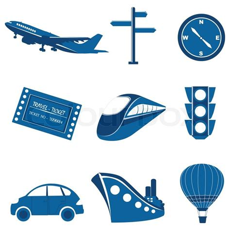 Car Plans by Illustration Of Set Of Transportation Icon On Isolated