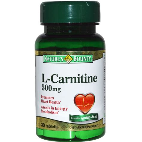 l carnitine for dogs nature s bounty l carnitine 500 mg 30 tablets iherb